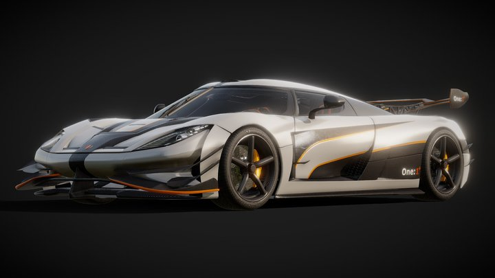 Koenigsegg One:1+ 3D Model