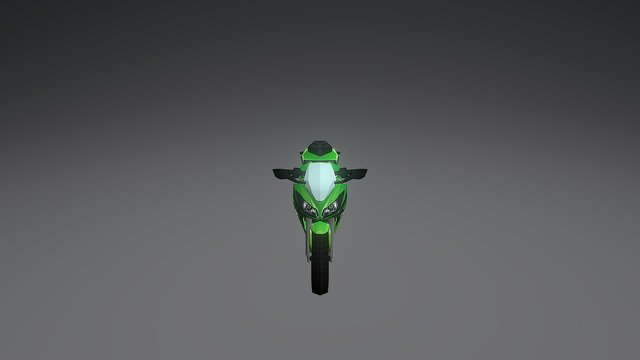 Ninja300 3D Model