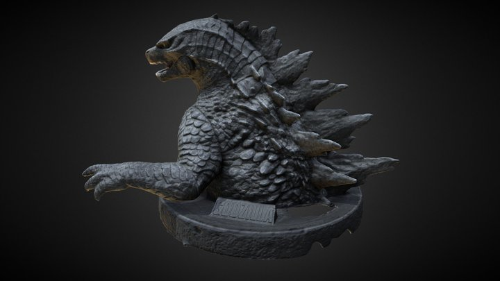 <!--Day3--> Godzilla Drink Cup Figures 3D Model