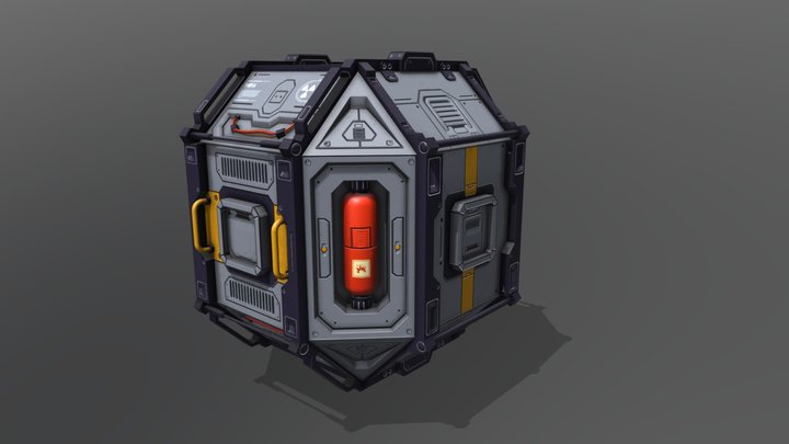 Container Sci-Fi 3D Model