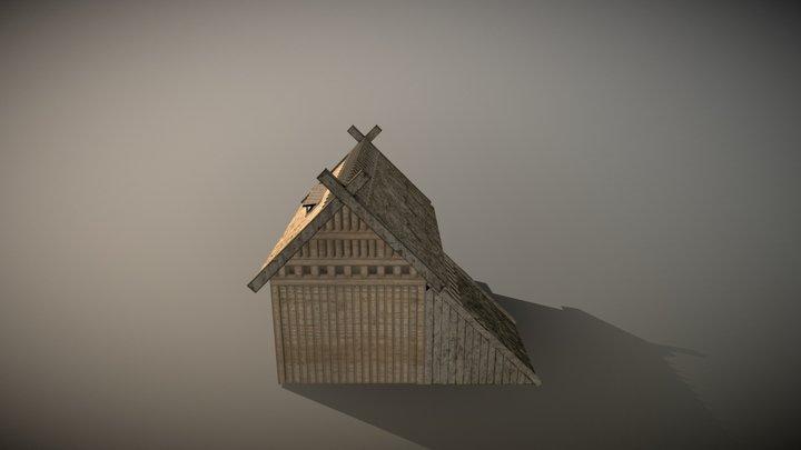 Small Viking House 3D Model