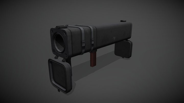 TF2 Black Box Rocket Launcher 3D Model
