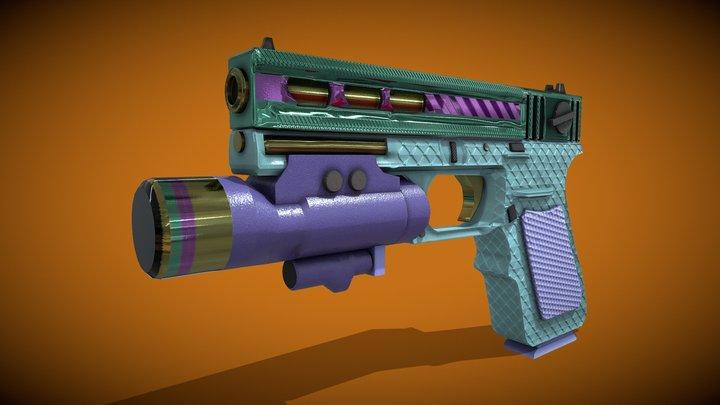 Rainbow Gun 3D Model