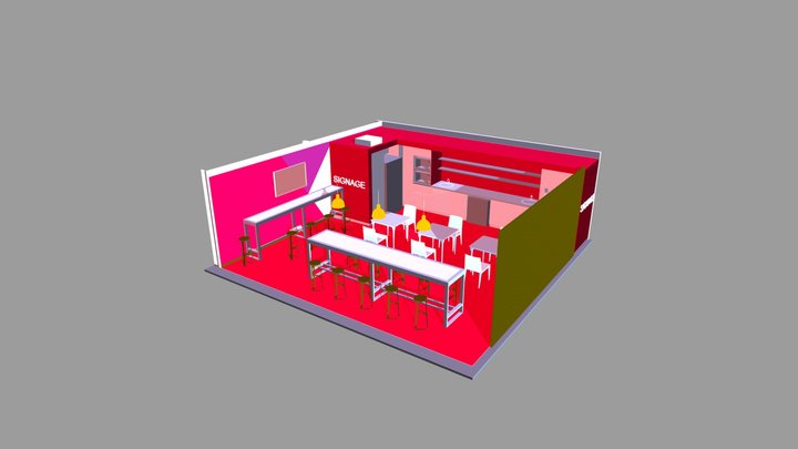 PAUSE AREA UNIT TYPE A 3D Model