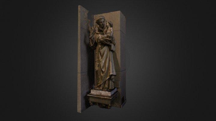 Saint Antoine de Padoue 3D Model