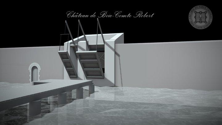 Pont-levis médiéval 3D Model