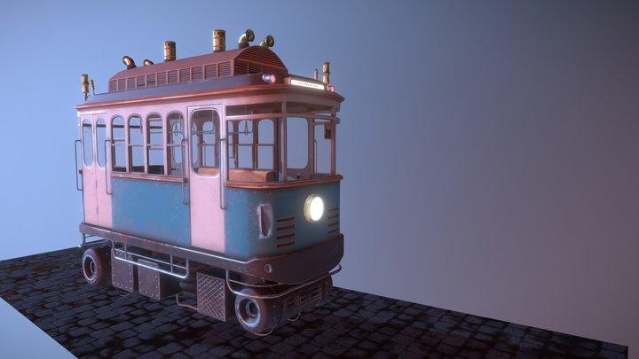 hoverTram LP tex 3D Model