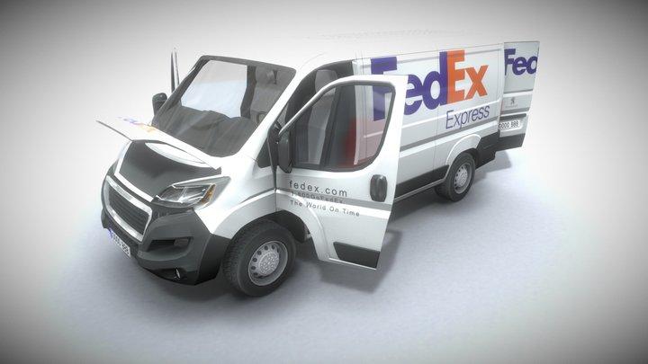 Peugeot Boxer Fedex 3D Model