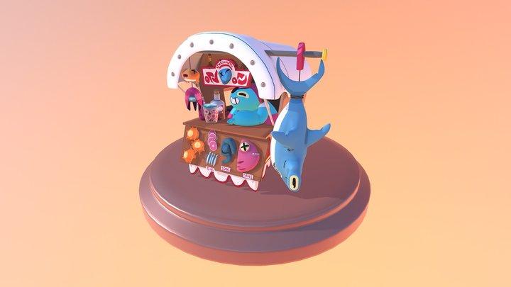 Fish Merchant 3D Model