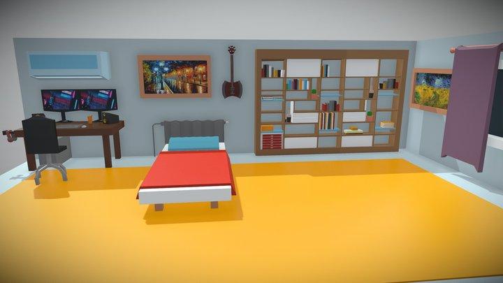 Gamer Room 3D Model