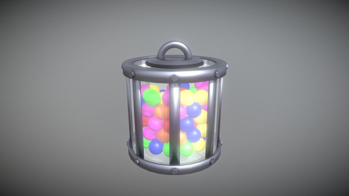 Industrial Gumball Canister 3D Model