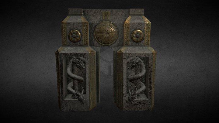Celtic fantasy gate 3D Model