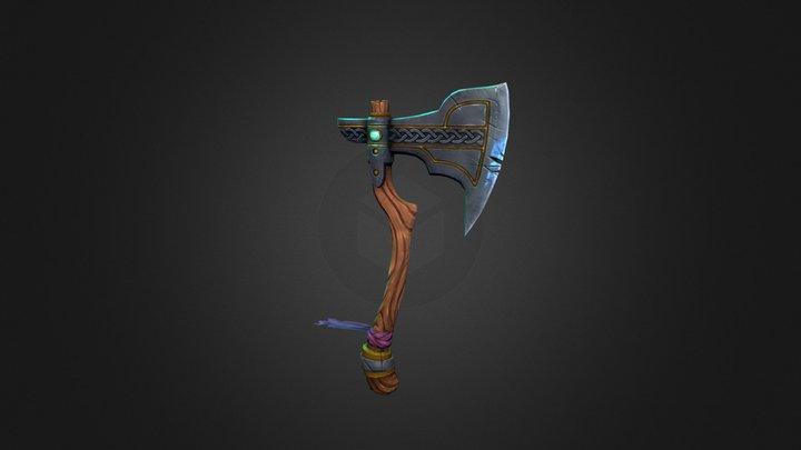 Norse Fantasy Axe 3D Model
