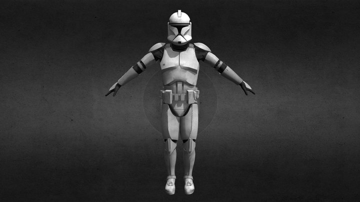 Clone Trooper Phase1 (Shiny) [Updated] 3D Model