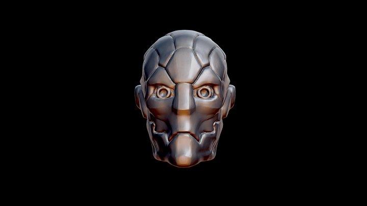 Metal skull robot 3D Model