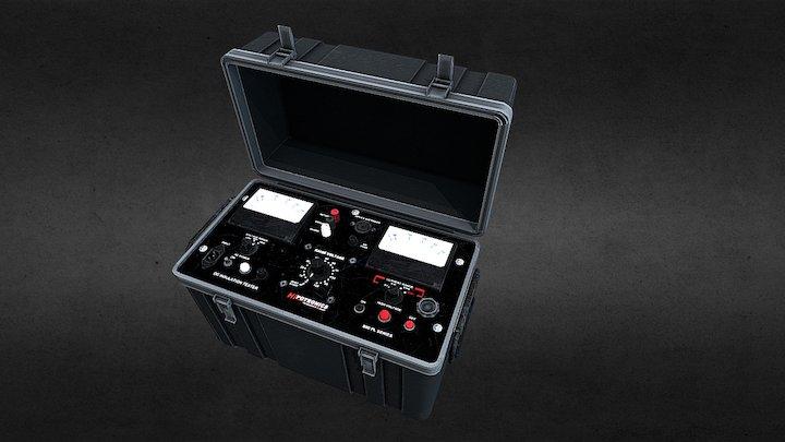 Cased DC Electrical current tester unit 3D Model