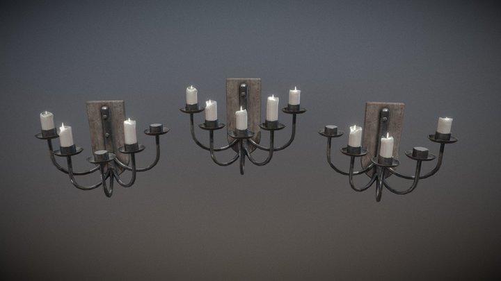 Set of Wall Chandeliers 3D Model