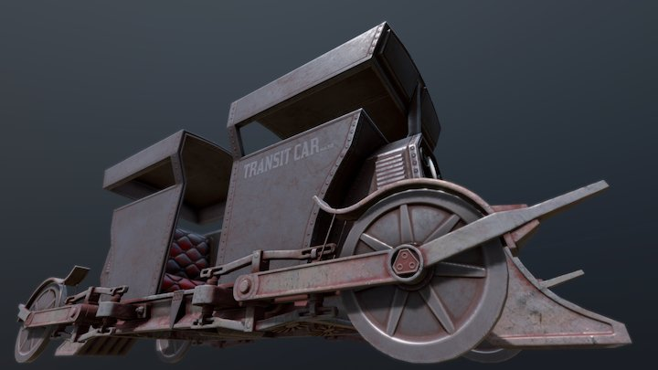 Railway Tram Car 3D Model