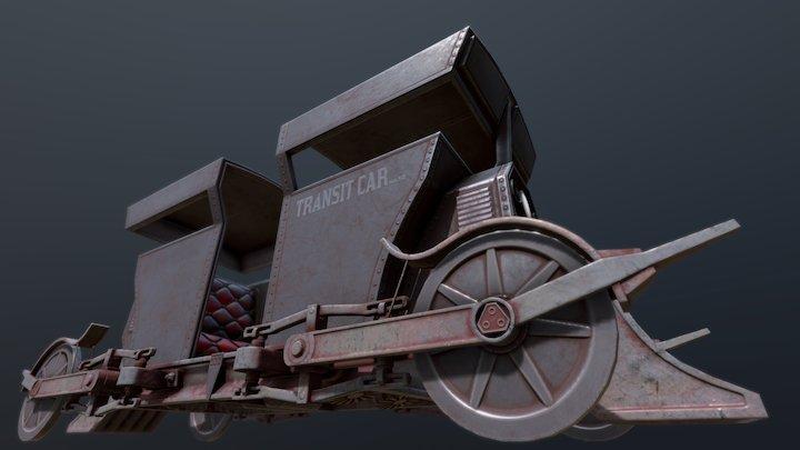 Railway Tram Car 3D Model
