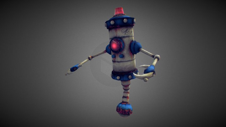 Security Bot 3D Model