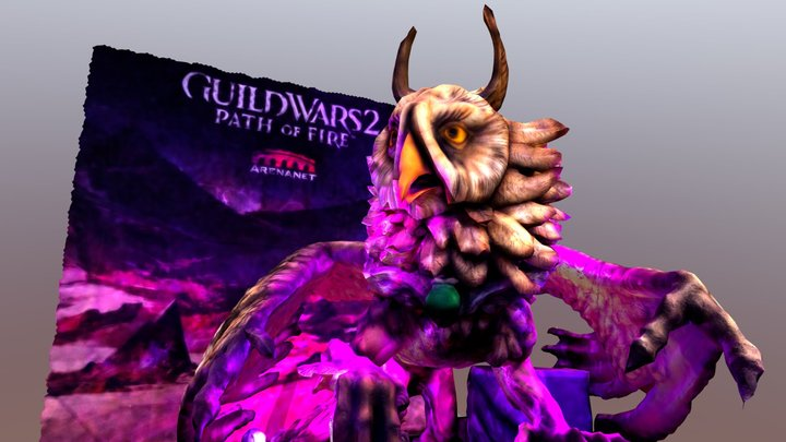 PAX 2018 Guild Wars 2 Griffon (Higher Poly) 3D Model