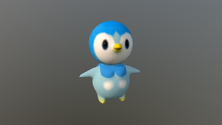 Piplup 3D Model