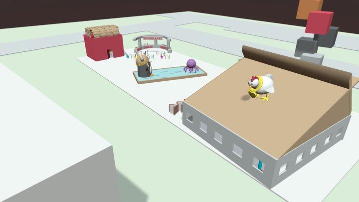 Zona TOTEM - Scuola G. Marconi 3D Model