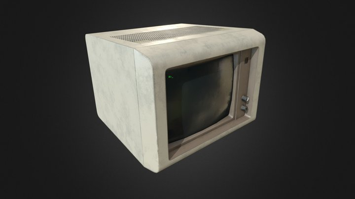 80's Personal Computer Monitor 3D Model
