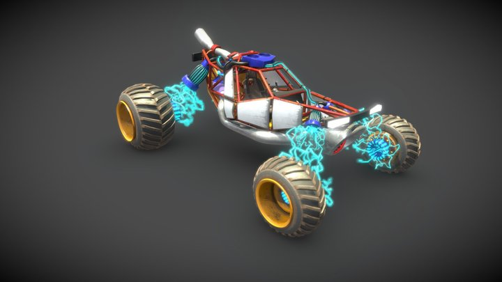 Electric buggy 3D Model