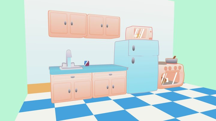 Little old kitchen 3D Model