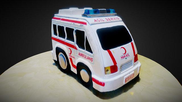 Toy Car Ambulance (photogrammetry) 3D Model