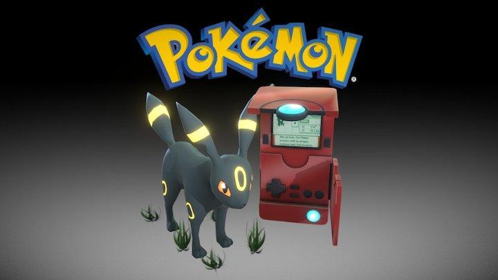 Umbreon & Johto Pokédex (Pokémon II Generation) 3D Model