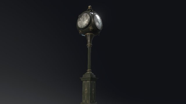 Town Square Clock 3D Model