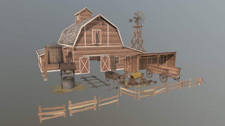 Farm Assets 3D Model