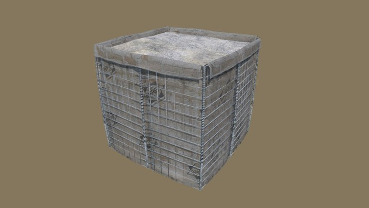Hesco Barrier PBR 3D Model