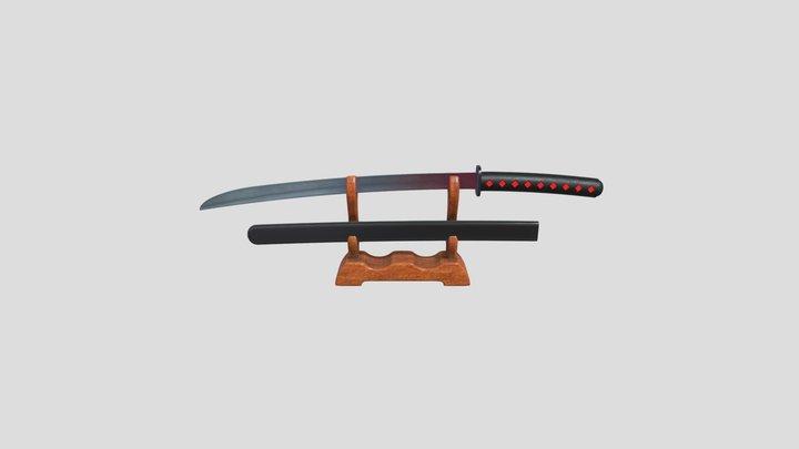 Samurai Sword Set 3D Model
