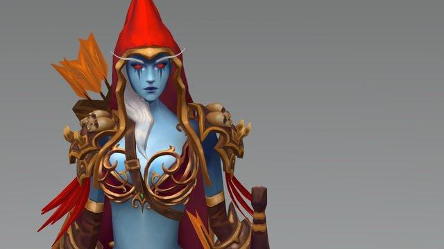 WoW fan art Sylvana 3D Model