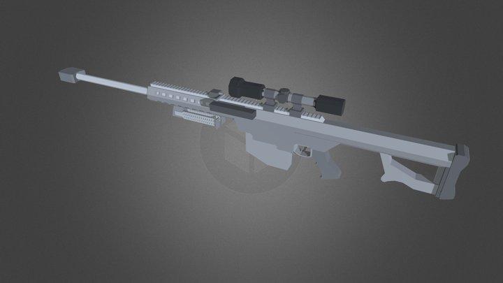 Barrett M82A1 (w/ scope) - Low Details 3D Model