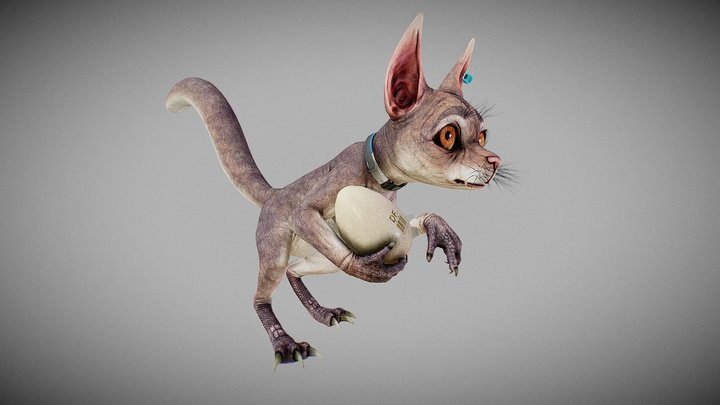 Newton the egg thief 3D Model