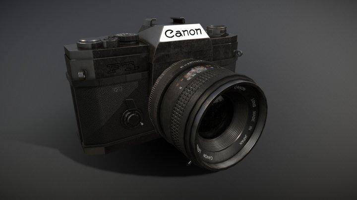 Canon Camera PBR 3D Model