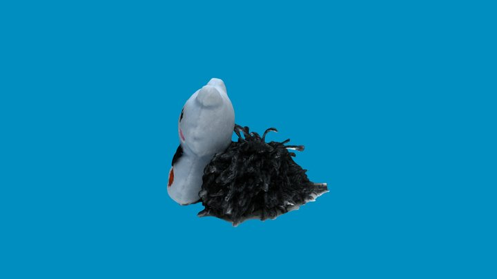 Cat with Pom 3D Model