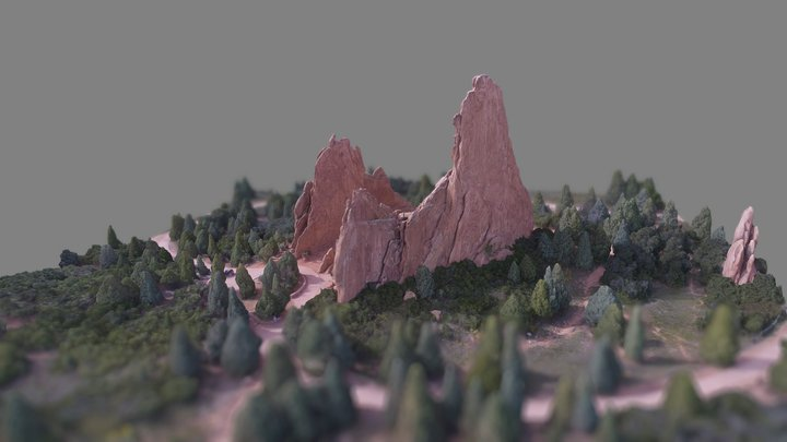 Garden of the Gods, Colorado 3D Model