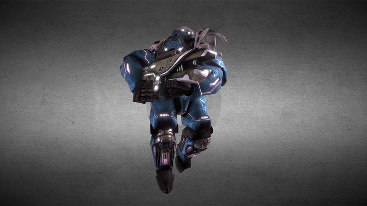 F.T.A. Heavy Armor Mech 3D Model