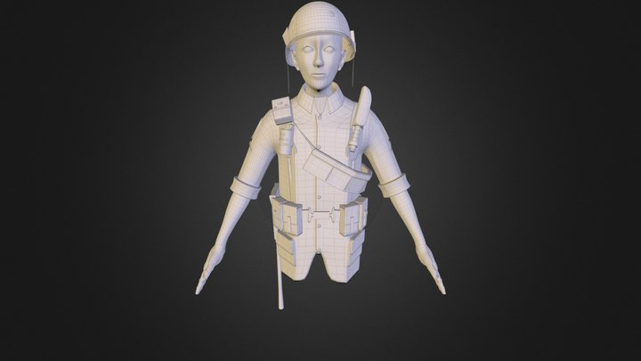 Vietnam Solider (unfinished) 3D Model