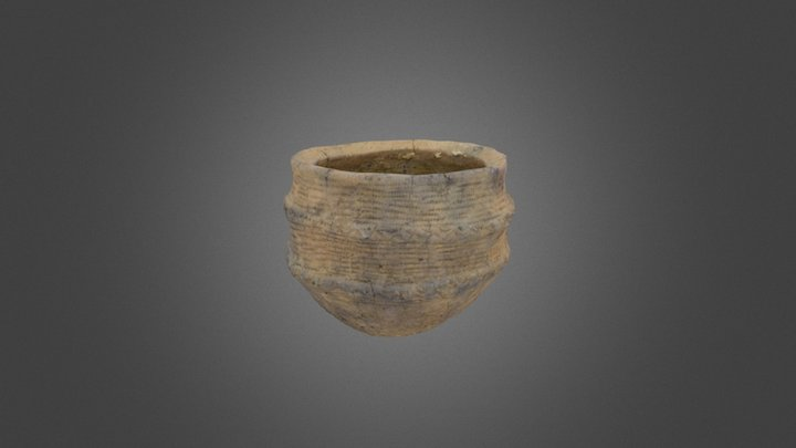 Early Bronze Age pot from Rathlin Island. 3D Model