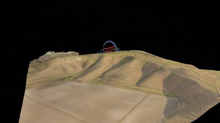 Cherhill White Horse 3D Model