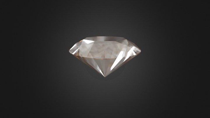 Round Diamond 57 edges 3D Model