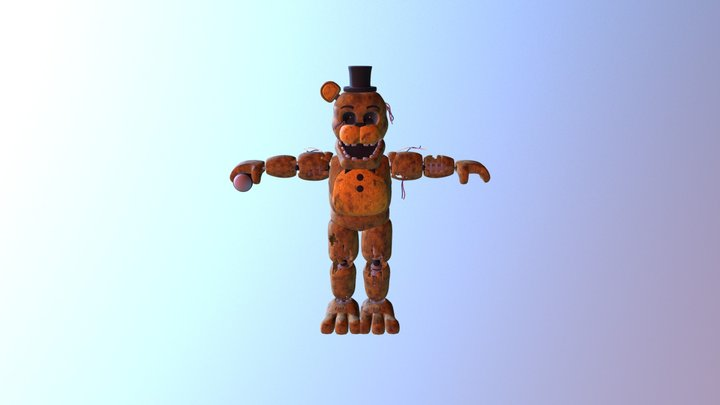 Coolioart-withered-golden-freddy 3D Model
