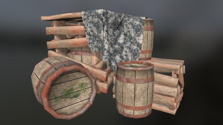 Pallet Stack 3D Model