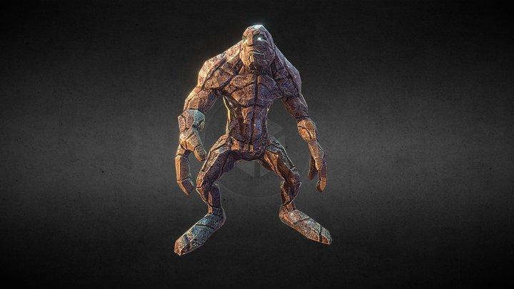 Wizard's Clash: Characters - Golem 3D Model